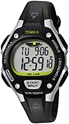 Timex Women s Ironman 30-Lap Digital Quartz Mid-Size Watch - White Black/Silver-Tone/Green Accent