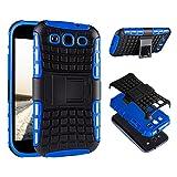 ECENCE Handyhülle Schutzhülle Outdoor Case Cover kompatibel für Samsung Galaxy S3 mini i8190 i8200 Handytasche Blau 23010402