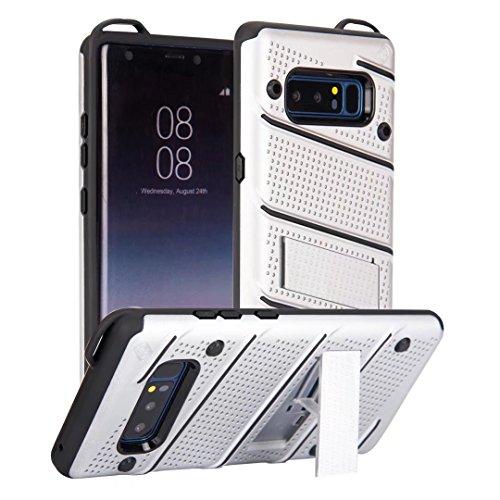 EKINHUI Case Cover Ultra Thin Slim Dual Layer PC + Soft TPU Back Schutzhülle Fall [Shockproof] mit Kickstand für Samsung Galaxy Note 8 ( Color : Gold ) Silver