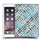 Head Case Designs Offizielle Ninola Vichy Blau Gingan Soft Gel Hülle für iPad Air 2 (2014)