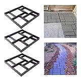 FROADP 3 Stück/Set DIY Schalungsform Betonpflaster Gießform Unregelmäßig Muster für Gehwegen Trittsteinen Garten(3 Stück/Set, Quadrat A - 8 Kammer)