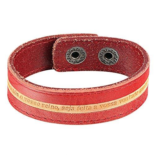 Aooaz Leder Armband Für Männer Rot Gelb Einfach Design Armreifen Schaltfläche Herren Lederarmbänder (Griechische Trachten In Frauen)