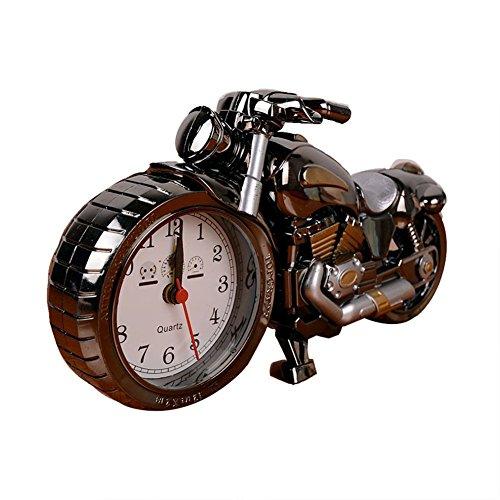 Haodasi Kreative künstlerische Motorrad Tischuhr Modell für Haushalt Regal Dekorationen