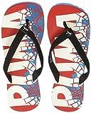 Puma Men's Pop Art II High Risk Red and Hawaiian Ocean and Puma White Flip Flops Thong Sandals - 9 UK/India (43 EU)(36652702)