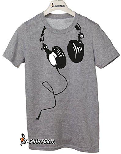 t-shirt Cuffia DJ, musica, tutte le taglie uomo donna maglietta by tshirteria