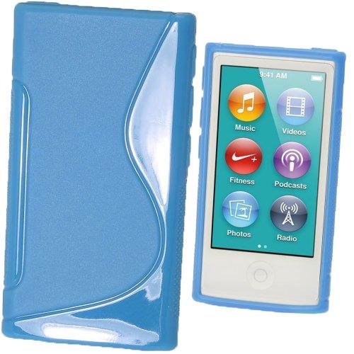 igadgitz Zweiton Blau Dauerhafte Kristall Gel Tasche TPU Hülle Schutzhülle Etui für Apple iPod Nano 7. Gen Generation 7G 16GB + Displayschutzfolie - Nano Gb 3. Generation 16 Ipod