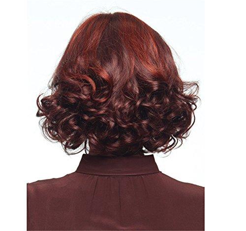 Mode Frauen Und Europäische Perücken Wilde Persönlichkeit Krümmung Kurze Lockige Haare Gradient Geeignet Für Jede Gesichtsform ()