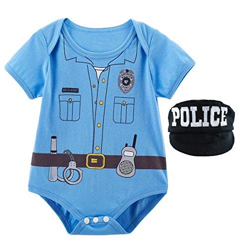 Pilot Halloween Body Kostüm mit Hut (Polizei, 0-3 Monate) (0 3 Monate Halloween Kostüme)