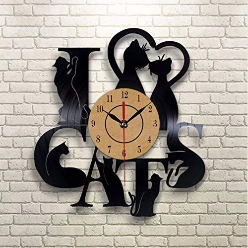 cmdyz 2019 Neue Ankunft Vinyl disc Uhr cat Thema Wand Vintage Retro Klassische Uhr Kunst dekor Uhren zu Hause wanduhr