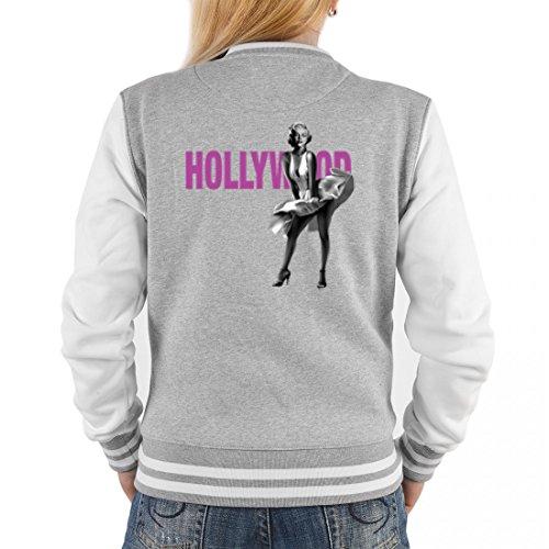 College Jacke für Damen - Hollywood - Cooles Outfit oder Geschenk Idee für Marilyn Monroe Fans, (Ideen Monroe Outfit Marilyn)