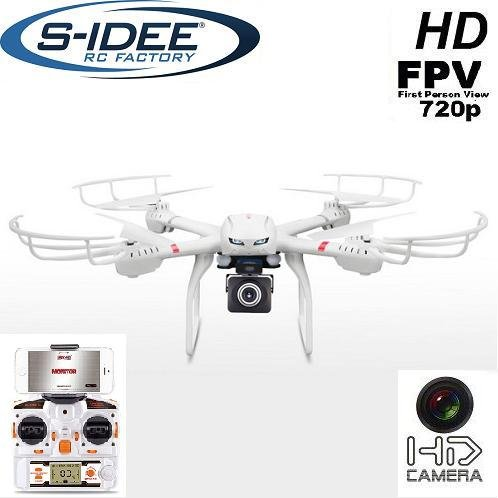 Preisvergleich Produktbild s-idee 01610 Quadrocopter X101 + C4008 Wifi HD Kamera MJX X101 One Key Return, Coming / Headless VR möglich Mod 360° Flip Funktion, 2.4 GHz, 4-Kanal, 6-AXIS Stabilization System