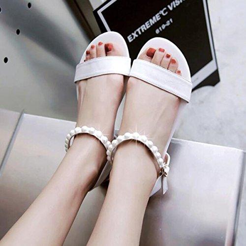 Mot Cingulaire Sandales à Bout Ouvert Avec Des Chaussures Plates Wind College white