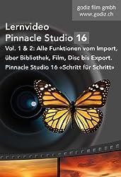 Pinnacle Studio 16 Lernvideo Vol. 1 und 2 Alle Funktionen Schritt für Schritt: Alle Funktionen von Pinnacle Studio 16 Schritt für Schritt - Import, Bibliothek, Film, Disc und Export