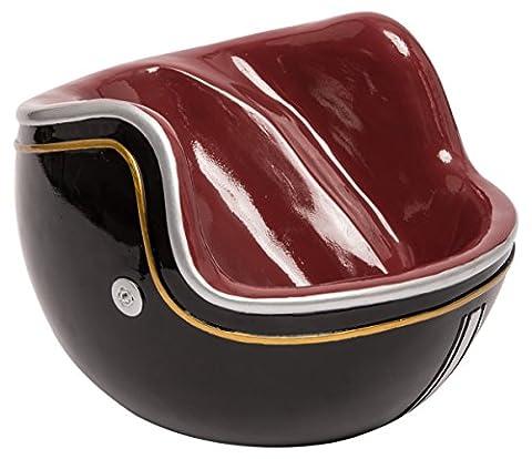 LUDI-VIN Porte Bouteille Casque Moto Vintage Noir