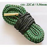 NEW alésage Serpent Pistolet de nettoyage .22 Cal .221 .222 .223 & 5,56 mm Boresnake Pistolet pour aspirateur