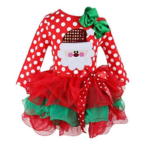 Stadt Kostüm Weihnachten Party - mama stadt Weihnachten Kinder Kleidung Mädchen Neugeborenes Baby Kostüm Geburtstag Weihnachtsmann Party Wellenpunkt Overall Kuchen Rock/6-12Monat