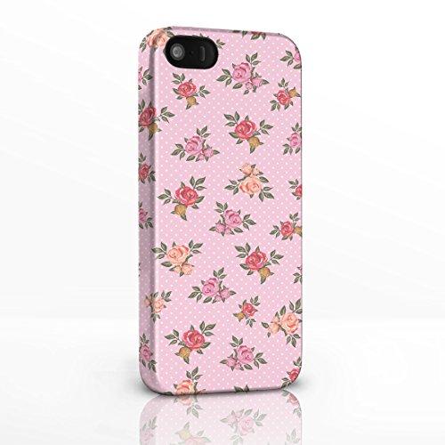 Pink Polka Sleeve (Kitsch Vintage Floral Gemustert Shabby Chic Handy Fällen für das iPhone Serie. 3D Hard Rückseite Glossy Cover für iPhone Modelle., plastik, 8. Roses on Light Pink Polka Dot Background, iPhone 6 Plus)
