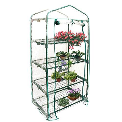 Somedays Cubierta de invernadero de PVC para jardín con mini pisos de jardín con cubierta reforzada (sin soporte de hierro)