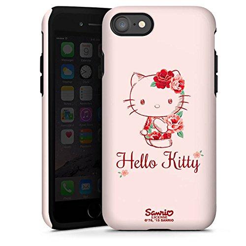 Apple iPhone X Silikon Hülle Case Schutzhülle Hello Kitty Geschenke Merchandise Roses Tough Case glänzend