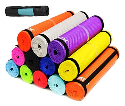 Esterilla de yoga 6mm (ahora 7mm en mismo precio) suave antideslizante Extra gruesa ABS ejercicio Fitness Gimnasia Physio Pilates Workout Pad, amarillo