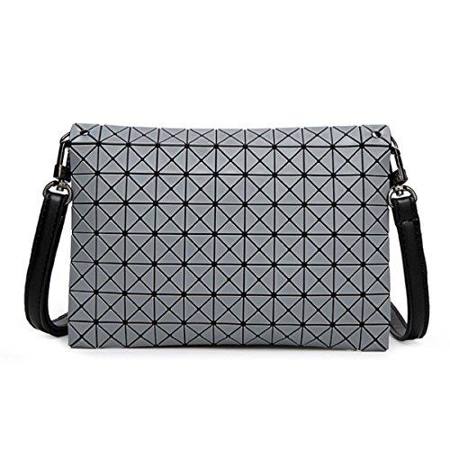 Grey Beiläufige Frauen Mini geometrische Beutelhandtasche Schultertasche WaRRX7g