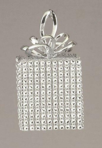 Premier Silber mit eckig 10cm Weihnachtskugeln Xmax Dekorationen