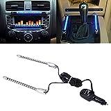 zyhw 45x 11cm DC 12V Sound Sensitive Musik Beat aktiviert Auto Aufkleber Equalizer Glow bunt LED-Licht mit Auto Zigarette Ladegerät Universal Dekoration