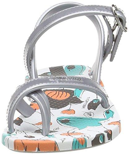 Ipanema Fashion Sd Iii Kids, Tongs fille Multicolore - Mehrfarbig (white silver 8033)