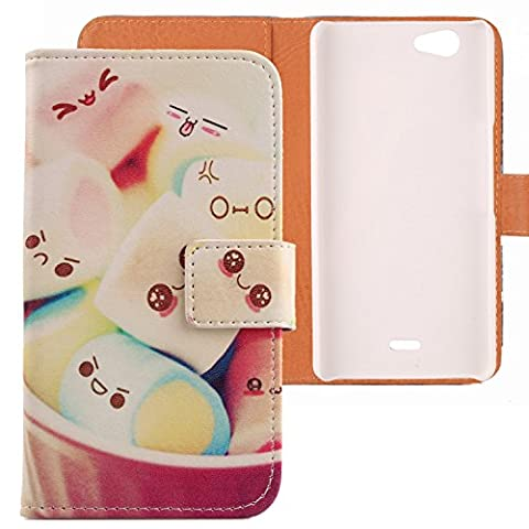 Lankashi Housse Etui Case Cover Cuir Coque Flip Skin Pour Wiko Highway Signs Lovely Design