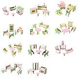 TOOGOO 49 piezas de 11 Juegos de Muebles de madera para bebes para...