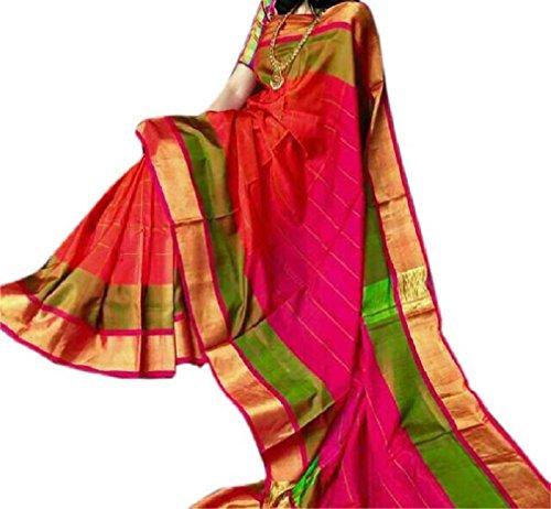Fashion Flowerz Original Andhra Uppada Pure Silk Sarees With Blouse For Women...