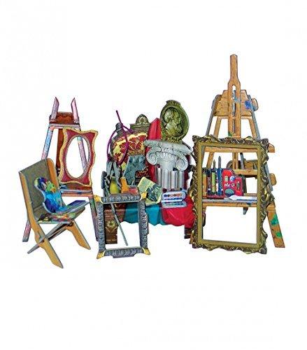 Umbum 275Clever Papier Puppe Haus und Möbel Kollektion Artist 's Workshop 3D Puzzle (40) -