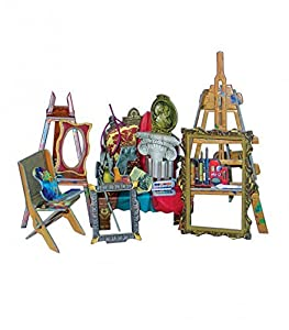 CLEVER PAPER- Puzzles 3D Sala de Pintura de casa de muñecas (14275)