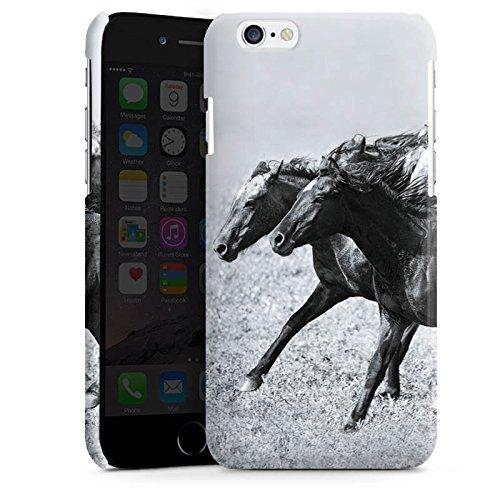 Apple iPhone 5s Housse Étui Protection Coque Chevaux Cheval Mustang Cas Premium brillant