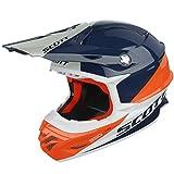 Scott 350 Pro Trophy MX Enduro Motorrad / Bike Helm orange/blau 2016: Größe: L (59-60cm)