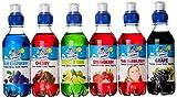 Snowycones - Paquet de 6 bouteilles de sirop parfums fraise/citron/citron vert/framboise bleue/raisin/chewing gum rose - 250ml