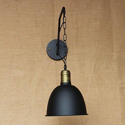 Im europäischen Stil Loft schwarze Abdeckung, industrielle Lampe, Wohnzimmer Flur, Kinder- Bett, im Warmen Wandleuchte, Bd 19, Elegant Schwarz -