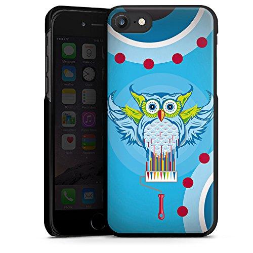 Apple iPhone X Silikon Hülle Case Schutzhülle Eule Bunt Comic Hard Case schwarz