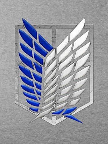 clothinx Damen T-Shirt Aufklärungstrupp Wappen AoT Sports Grey