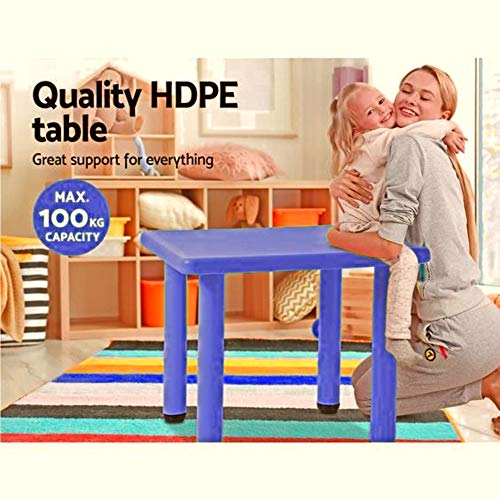 Intra Kids School Square Study Table without Chair (Blue)