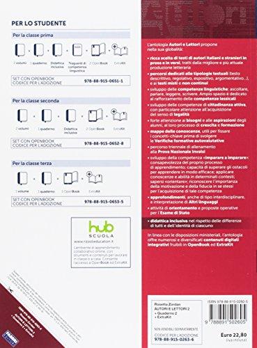 Autori E Lettori Quaderno Letteratura Extrakit Openbook Adozione Tipo B Per La Scuola Media Con E Book Con Espansione Online 2 Rosetta Zordan Libro Fabbri Pickmybook