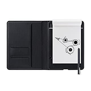 Wacom Bamboo Folio Digital Notepad A4 (Letter Size) – Large Portfolio Notebook with Digitisation Technology incl. Stylus with Ballpoint Pen – Compatible with Android and Apple