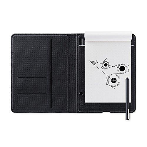 Wacom Bamboo Folio Smartpad A4 - Großes Portfolio Notepad mit Digitalisierungs-Funktion inkl. Eingabestift mit Kugelschreibermine - Kompatibel mit Android und Apple