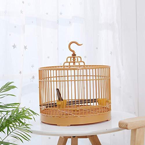cosyhouse Vintage-Stil Birdcage Bird Travel Cage Vintage Runde Vogelkäfig Garden Planter Flower Container Geeignet für kleine Vögel