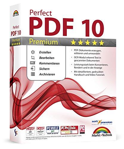 Produktbild Perfect PDF 10 PREMIUM inkl. OCR Modul PDFs Erstellen, Bearbeiten, Umwandeln, Sichern, Kommentare hinzufügen, Formulare ausfüllen | 100% Kompatibel mit Adobe Acrobat