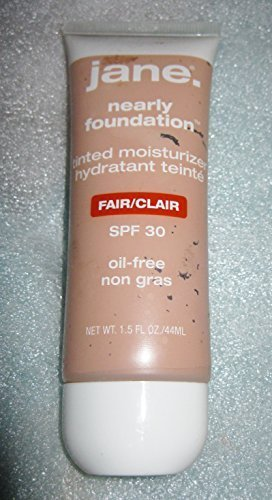 jane. Nearly Foundation tinted moisturize oil-free FAIR SPF 30 1 NEW by Jane Cosmetics