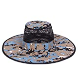 Sombrero de Camuflaje Pescador Redondeado Sombrero de protección Solar Escalada al Aire Libre Selva Hombres Mujeres Tácticas Gorra, Azul Claro, Talla única