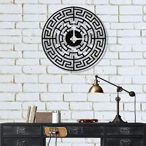 Dekadron Design unique Horloge murale en métal grecque 38x38cm noir
