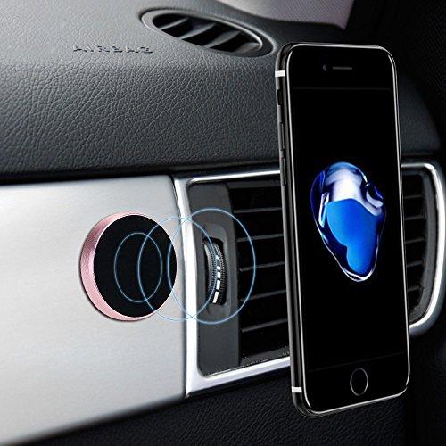 Mmrm ?Universelle Runde flache starke Auto magnetische Halterung montieren Halter für iPhone LG Samsung usw. Smartphone Sliber