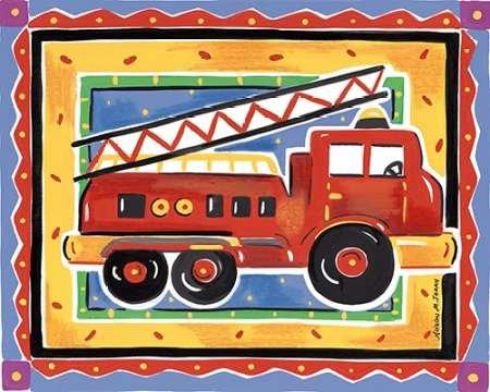 Feeling at home, Stampa artistica x cornice - quadro, fine art print, Fire Engine cm 74x91